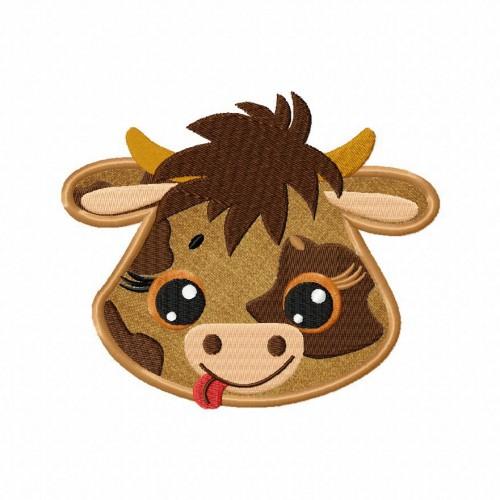 Farm Cow Applique 5_5 Inch
