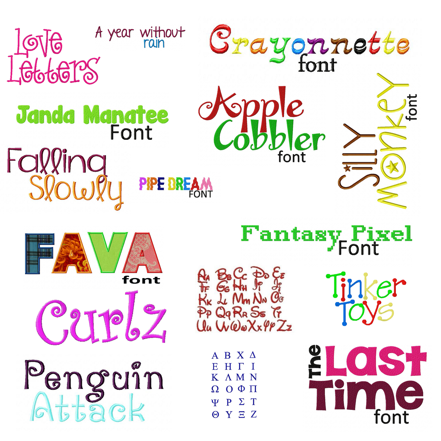 Embroidery font deal machine fonts