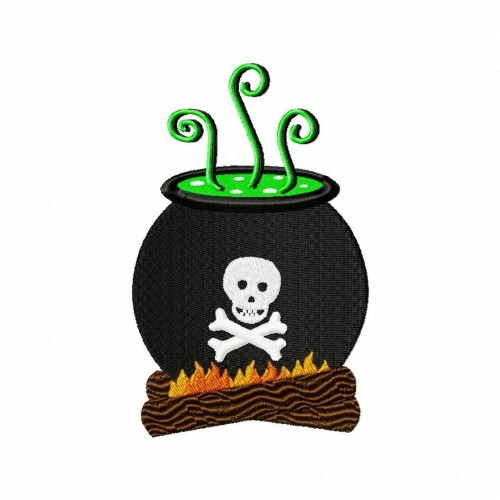 Cauldron Stitched 5_5 Inch