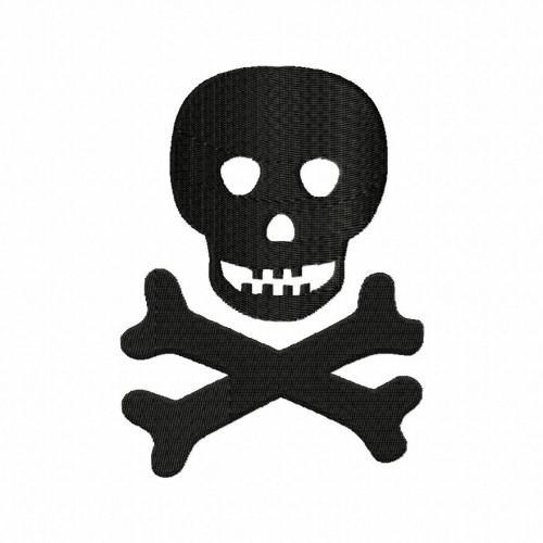 Skull N Bones Stitched 5_5 Inch