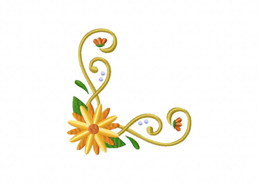 35 Borders and Corners Floral Designs Entire Package Only