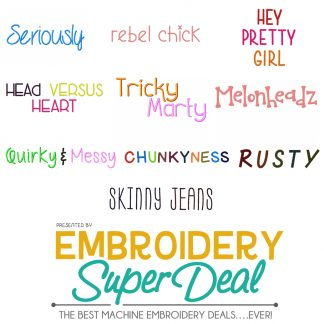 Embroidery Font Deals Embroidery Super Deal