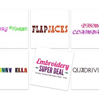 Embroidery Font Deals – Embroidery Super Deal
