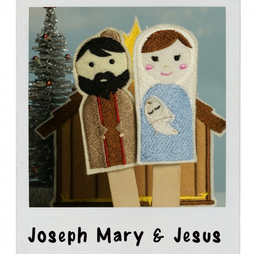 Puppet Joseph Mary Jesus