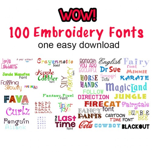 100 fonts