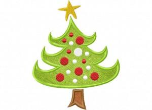 Artsy Christmas 1 (Applique) 6_5 in