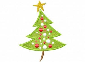 Artsy Christmas 2 (Applique) 6_5 in