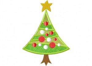 Artsy Christmas 3 (Applique) 6_5 in