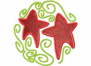 Artsy Christmas 5 (Applique) 6_5 in