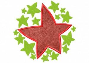 Artsy Christmas 6 (Applique) 6_5 in