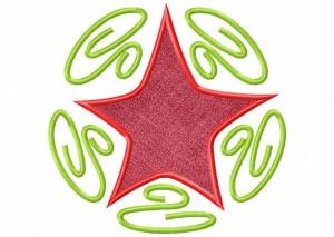 Artsy Christmas 7 (Applique) 6_5 in
