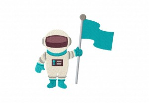 Astronaut with Flag 5_5 Inch