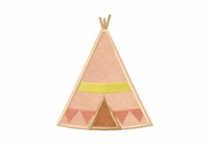 Brown-Teepee-Applique-5x7-Inch
