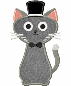 Cat-with-top-hat-Applique-5x7