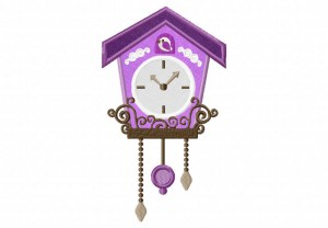 Cuckoo-Clock-Purple-Applique-5x7-Inch