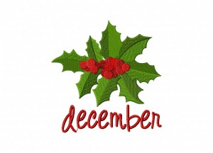 December-Holly Stitched 5_5