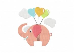 Elephant Heart Balloons 5_5 Inch