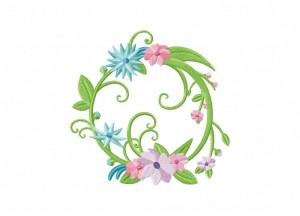 Full Floral Wreath 5_5 Inch