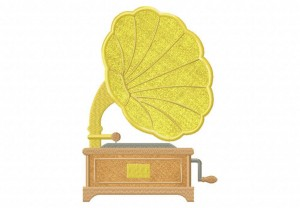 Gramophone-Applique-5x7-Inch