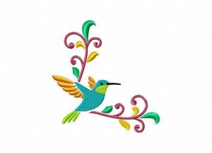 Hummingbird corner Stitched 5_5
