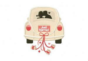 Just-Married-Car-Applique-5x7-Inch