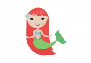 Red Hair Mermaid 5_5 Inch