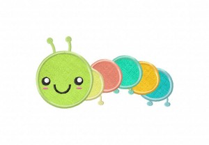 Smiling-Caterpillar-Applique-5x7-Inch