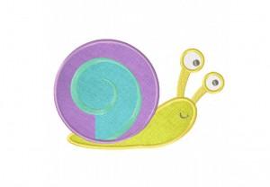 Speedy-Snail-Applique-5x7-Inch