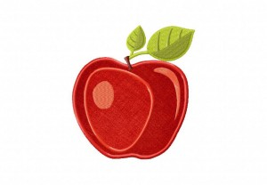 Stylish-Apple-Applique-5x7-Inch