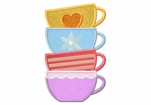 Tea-Cup-Stack-Applique-5x7-Inch