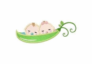 Twin-Peas-Applique-5x7-Inch