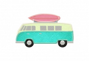 Van-With-Surfboard-Applique-5x7-Inch