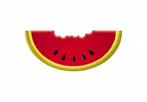 Watermelon-Chewed-Applique-5x7-Inch
