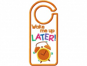 Door Hanger 01 Wake Me Later
