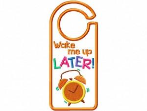 Door Hanger 01 Wake Me Later