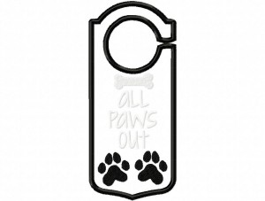 Door Hanger 03 All Paws Out