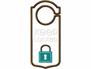 Door Hanger 04 Keep Locked