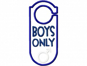 Door Hanger 05 Boys Only