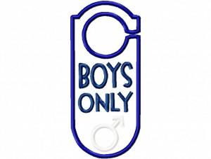 Door Hanger 05 Boys Only