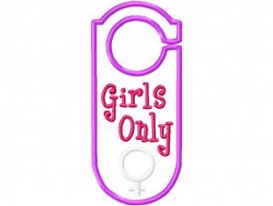 Door Hanger 06 Girls Only