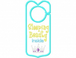 Door Hanger 08 Sleeping Beauty Inside