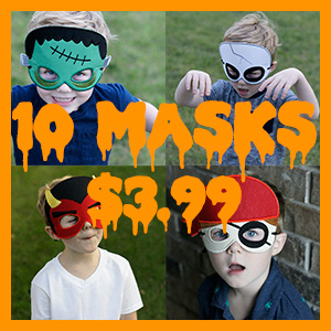 Machine Embroidery In The Hoop Halloween Masks
