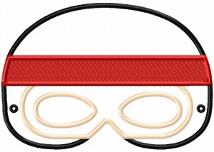 Image Ninja Mask 6X10 Inch Hoop