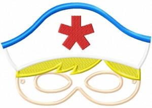 Image Nurse Mask 6X10 Inch Hoop