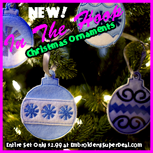 Machine Embroidery In The Hoop Christmas Ornaments