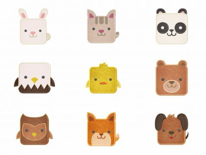 Square Cute Animals 18 Embroidery Designs Pack Embroidery Super Deal
