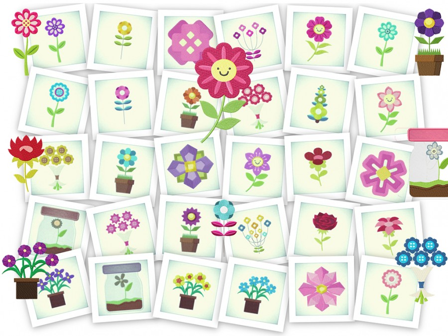 Flower Power - 68 Floral Machine Embroidery Designs