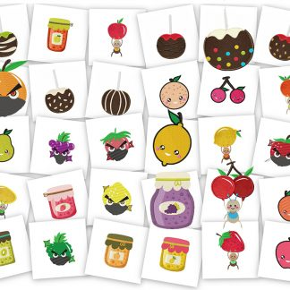 Fantastic Fruits! 30 Machine Embroidery Designs!