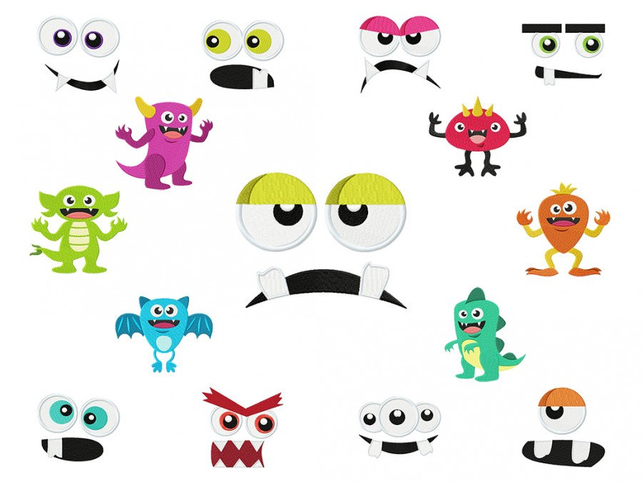 Monster Mash - 15 Machine Embroidery Designs for Halloween