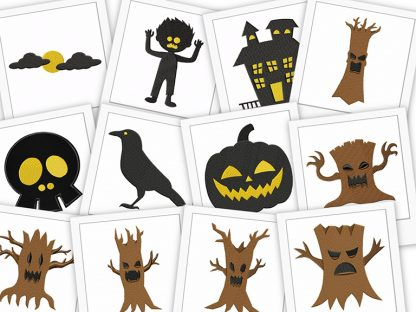 Fangtastic Halloween Embroidery Machine Designs